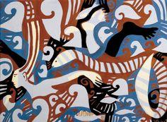Líneas sensuales, simplificaciones radicales, despliegue ornamental libremente dispuesto sobre lienzos y papeles..., los universos pictóricos de Josefina Pino son estallidos cromáticos, expresan la joie de vivre del carácter mediterráneo.
