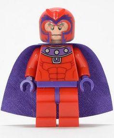 MAGNETO Black Custom Printed Lego Xmen Villain Marvel Inspired Minifigure!