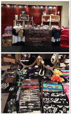 Carrie Reeder used antlers to display jewelry at her most recent vendor event | Direct Sales Tips | Rustic Decor and Display | Country Girl