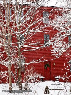 Love the RED house!