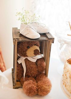 Vintage Chic Baby Shower Party decorations! See more party planning ideas at CatchMyParty.com!