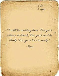 I will be waiting...I will, my love✯
