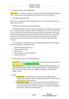 Romantyzm - Język polski, opracowanie na sprawdzian School Life, High School, English Handwriting, Learn Polish, Polish Language, Eighth Grade, School Subjects, School Notes, School Hacks