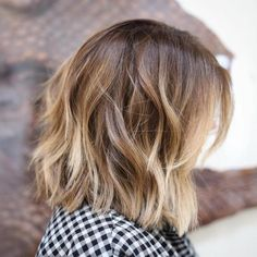 Chopped Lob with Blonde Ends