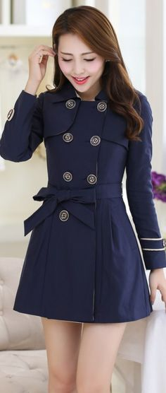 Casual Autumn Trench Korean Coat YRB0324 £29.60