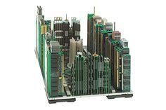 Computer part cityscapes