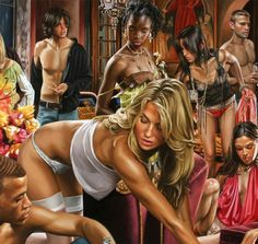 Terry Rodgers is an American figurative painter known for his large scale canvases that focus on portraying contemporary society in all its glory. Russian Painting, Russian Art, Classic Paintings, Contemporary Paintings, Painting Gallery, Art Gallery, Realistic Paintings, Realism Art, Art Object