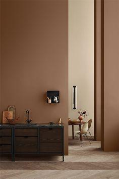 colour inspiration The Scandinavian company Jotun Lady predicts the interior colour trends of 2020 with 12 new colours Best Interior, Interior Paint, Home Interior Design, Interior Styling, Cafe Interior, Home Design, Interior Architecture, Color Interior, Brown Interior