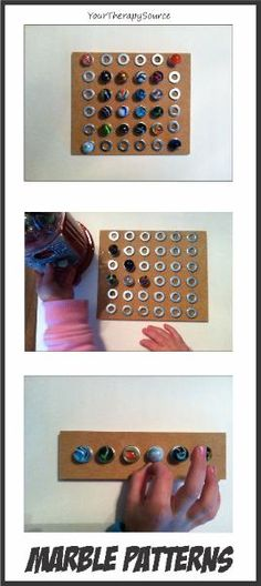 Marble Boards - could be a great Practical Life activity however I would not recommend flicking them off the board in a Montessori Environment.