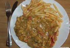 Maso se smetanovo-hořčičnou omáčkou Czech Recipes, Food And Drink, Soup, Yummy Food, Meat, Chicken, Baking, Cooking, Delicious Food