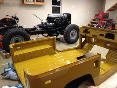 1977 Toyota Land Cruiser FJ40 Body Tub Bare Metal Paint Frame
