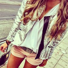 """Sparkle Jacket!  """"Trendy, Unique and Affordable"""" - That is the main philosophy at Bling Boutique in Milford, MI!  Stop by our store to find some fashionable items that will spice up your wardrobe!  Visit www.downtownbling.com or call (248)  685-8449 for more information!"""