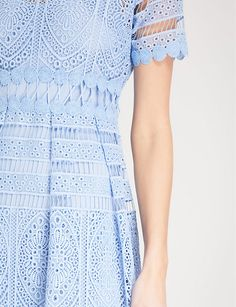 MAJE - Embroidered lace dress   Selfridges.com Lace Embroidery, Embroidered Lace, Biker Boots, Maje, Parisian, Cloths, Lace Dress, Zip Ups, Short Sleeve Dresses