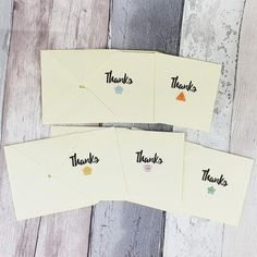 Handmade thanks cards, Pack of sweet mini thank you cards with cute colourful buttons, kraft, white or ivory card, or 12 pack Baby Girl Cards, New Baby Cards, Handmade Thank You Cards, Greeting Cards Handmade, Birthday Card With Name, Birthday Cards, Pun Card, Thanks Card, Cat Cards