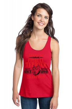 Authentic American Pit Bull Terrier Tradition Racerback Tank