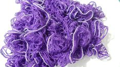 Purple Silver Sashay Scarf crochet by kalliescotton on Etsy, $20.00