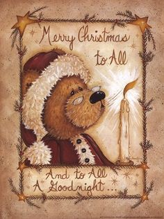Merry Christmas to All by Mary Ann June art print