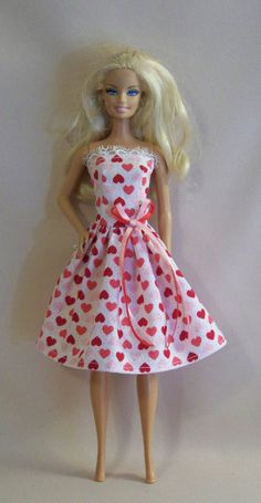 Handmade Barbie Doll Clothes Valentine Hearts by Persnickety Grandma, $5.00