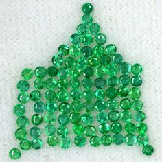 3.16 Cts Natural Top Green Emerald Gemstone Round Cut Lot Untreated Zambia 2 mm