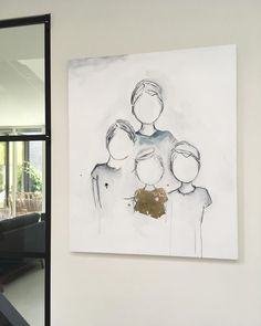 4 k i d s _______________________ #oncommission #100x120cm #boys #babygirl #acrylonlinen #painting #artstudio #opdracht #portret #schilderij #mixedmedia #figurative