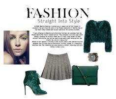 """""""Green & Grey"""" by catherine-earnshaw ❤ liked on Polyvore featuring Aquazzura and Marni"""