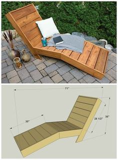 5 Chaise Lounge Chair Diy Furniture Projects chaise lounge DIY Outdoor Chaise Lounge FREE PLANS at buildsomething Pallet Garden Furniture, Outdoor Furniture Plans, Furniture Projects, Home Furniture, Barbie Furniture, Art Projects, Furniture Makeover, Antique Furniture, Modern Furniture
