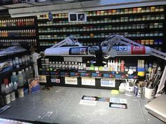 Post with 3119 votes and 151539 views. Shared by ismpaul. My modelling man cave Hobby Desk, Hobby Room, Painting Station, Artist Workspace, Shop Work Bench, Paint Booth, Model Shop, Model Cars Kits, Making Space
