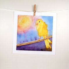 Bird Art  Watercolor Painting Print  Bird Painting by LaBerge, $23.00