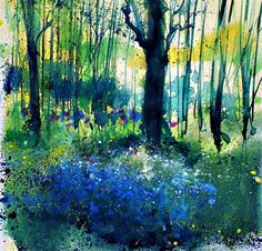 Pete Gilbert is an artist from the New Forest, Hampshire. Painting mainly landscapes of the New Forest or the Dorset Coast Watercolor Trees, Watercolor Landscape, Abstract Landscape, Landscape Paintings, Watercolor Paintings, Watercolor Artists, Abstract Oil, Abstract Paintings, Watercolours