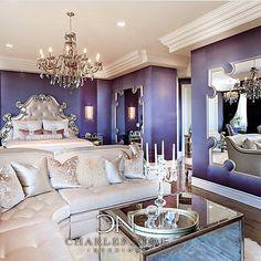 Love the purple walls