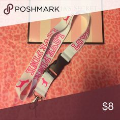 VS PINK LANYARD Brand new PINK Victoria's Secret Accessories Key & Card Holders