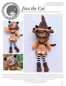 KUFER z artystycznym rękodziełem : Bajkowa lala ze wzorem darmowym Single Crochet Decrease, Cat Reading, The Ch, Magic Circle, Yarn Needle, Crochet Yarn, Plushies, Sheep, Weaving