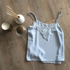 Poetry light blue top Poetry top can be worn with jeans or shorts- very versatile. Light material. Lightly worn, in good condition. Poetry Tops