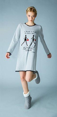 Camicia da notte della collezione autunnale Pigiamiamoci... #comodo, #sexy #nightandday #quasiquasiscendoafareungiro #pigiamiamoci