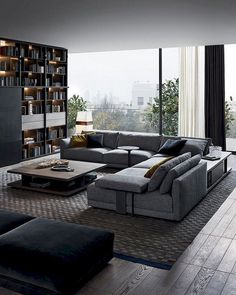 Appealing 70 european living room design and decor ideas Living Room Modern, Living Room Interior, Home Living Room, Contemporary Living Rooms, Urban Living Rooms, Contemporary Interior, Masculine Living Rooms, Modern Contemporary Living Room, Casual Living Rooms