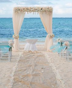 Create a wedding arch in office/craft/exercise room? Elegant Caribbean Beach Wedding Arch by Weddings Romantique -Lindy Photography Beach Wedding Reception, Beach Ceremony, Beach Wedding Decorations, Wedding Ceremony, Destination Wedding, Wedding Planning, Beach Weddings, Wedding Arches, Wedding Mandap