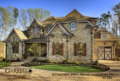Garrell Associates, Inc.Mon Chateau House Plan # 07386, Front Elevation, French Country Style House Plans, Master Down House Plans (5,299 s.f.) Design by Michael W. Garrell