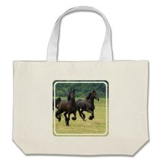 Our Horse tote bags are great for carrying around your school & office work, or other shopping purchases. Large Canvas Tote Bags, Friesian Horse, Reusable Tote Bags, Horses, Horse, Words
