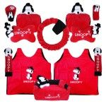 Bantal Mobil 8 in 1 Boneka Snoopy Merah