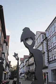 """LichtArt Celle """"Sprechende Laternen"""" erzählen aus Celles Stadtgeschichte."""