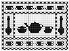 Rectangle 12 | Free chart for cross-stitch, filet crochet | gancedo.eu