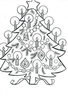 Omalovánka - Vánoční stromeček Christmas Time, Advent, Coloring Pages, Mandala, Writing, Children, Ideas, Xmas, Quote Coloring Pages