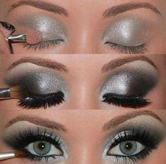 silver eyeshadow makeup | makeup # eyeshadow # pretty