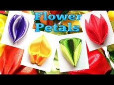 Kanzashi petals with ribbon, flower petals tutorial / Лепестки Канзаши - YouTube