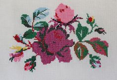 The cross Stitch Flower Design by maripipicrafters on Etsy
