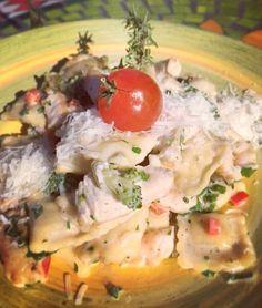 Равиоли с пиле и броколи