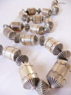 Navajo solid sterling necklace ~ barrels and flutes ~ vintage Southwestern sterling Sterling Silver Necklaces, Jewelry Necklaces, Silver Earrings, Silver Ring, Silver Bracelets, Etsy Jewelry, 925 Silver, Antique Jewelry, Vintage Jewelry