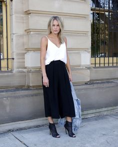 tank top with a maxi skirt