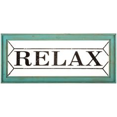Relax Wood & Glass Plaque