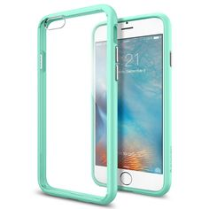 The Bright Mint and Crystal Clear Ultra Hybrid Bumper iPhone 6/6s Case
